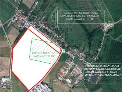 Teren intravilan de vanzare in Sibiu zona Viile Sibiului