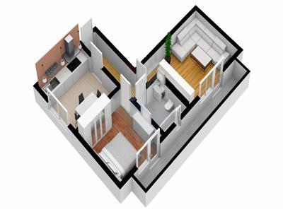 Apartament 2 camere de vanzare in Sibiu zona Hipodrom IV
