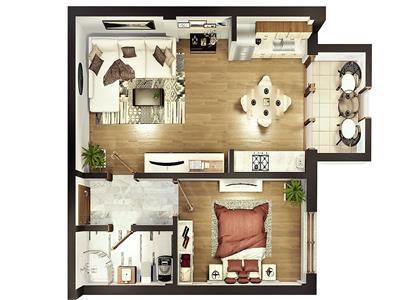 Apartament 2 camere de vanzare Sibiu zona Calea Surii Mici