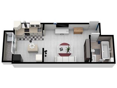 Apartament 1 camera de vanzare in Sibiu zona Cartierul Arhitectilor