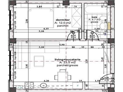 Apartament 2 camere de vanzare in Sibiu zona Cartierul Arhitectilor