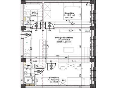 Apartament 3 camere de vanzare Sibiu zona Cartierul Arhitectilor