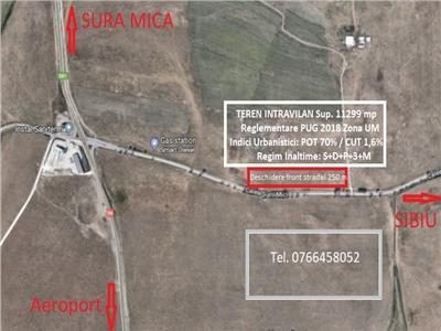 Teren intravilan de vanzare Sibiu zona Calea Surii Mici 11299 mp