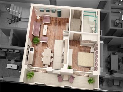 Apartament 2 camere TIP 2 de vanzare in Ansamblul CITY RESIDENCE