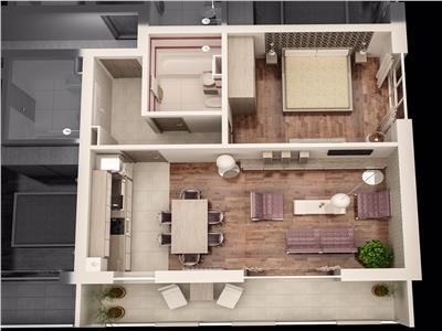 Apartament 2 camere TIP 3 de vanzare in Ansamblul CITY RESIDENCE
