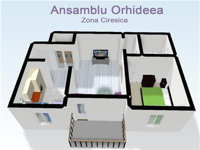 Apartamente 2 camere de vanzare Ansamblul Orhideea