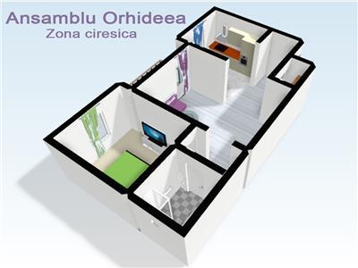 Apartamente 2 camere de vanzare in Sibiu zona Ciresica