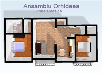 Apartamente de vanzare 3 camere decomandate in Sibiu zona Ciresica