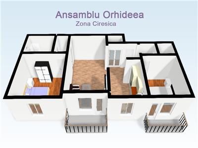 Apartamente 3 camere de vanzare in Sibiu Ansamblul Orhideea